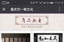 刘氏根雕书法公众号案例